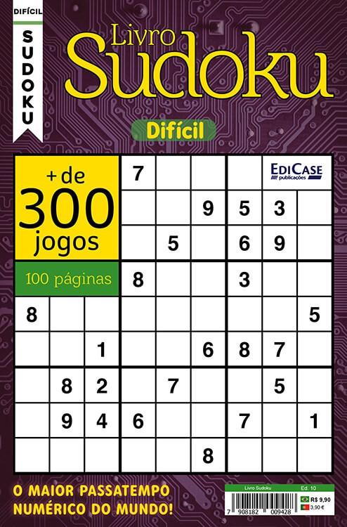 Kit c/ 11 Sudokus - Nível - Difícil - Ed.01