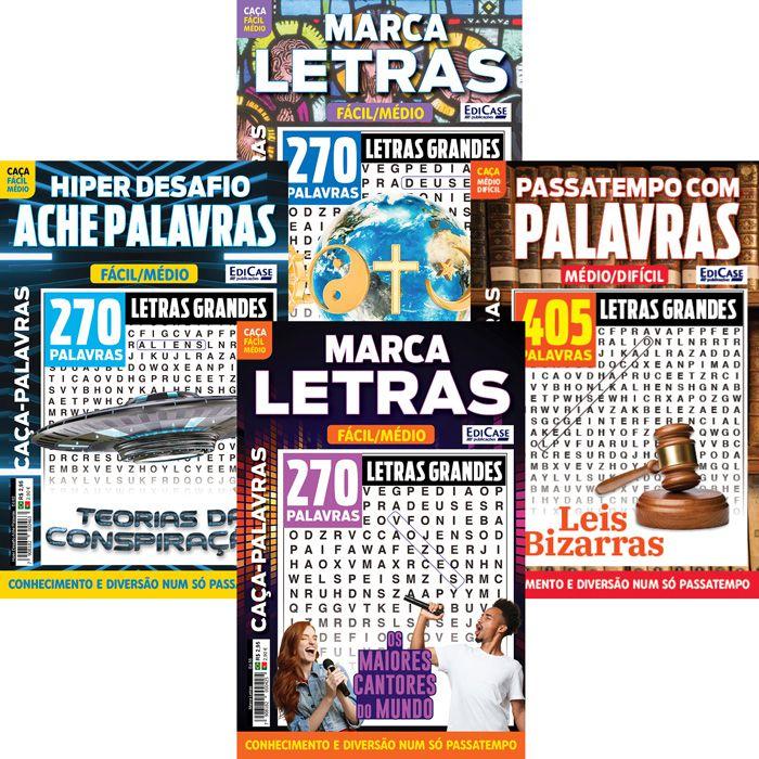 Kit Caça-Palavras - Jun/19 - 4 Revistas  - EdiCase Publicações