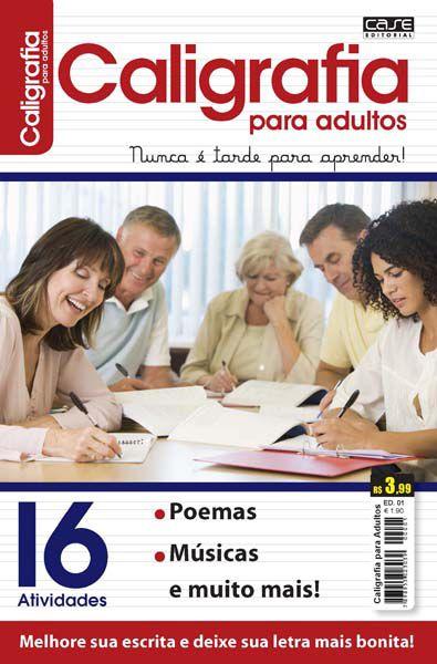 Kit c/ 3 Revistas Caligrafia Para Adultos - PRODUTO DIGITAL (PDF) - PARA IMPRIMIR