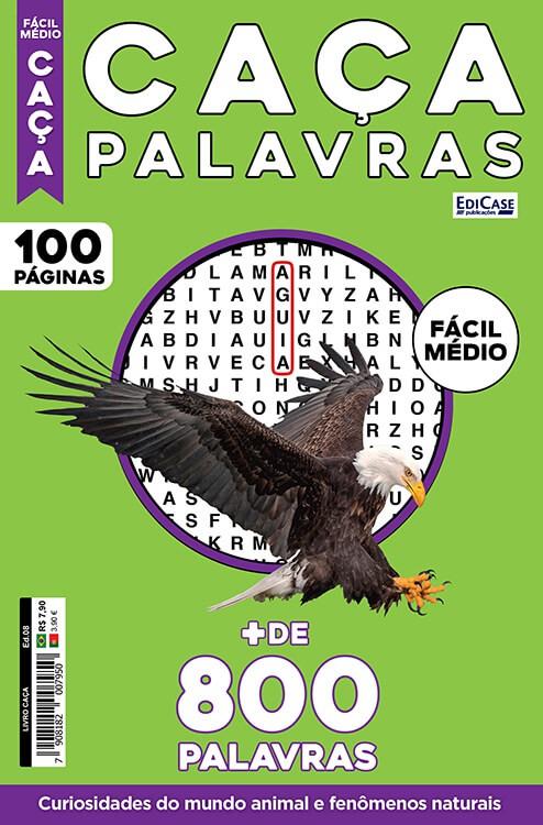 Livro Caça Ed. 08 - Fácil/Médio - Curiosidades do Mundo Animal e Fenômenos Naturais  - EdiCase Publicações