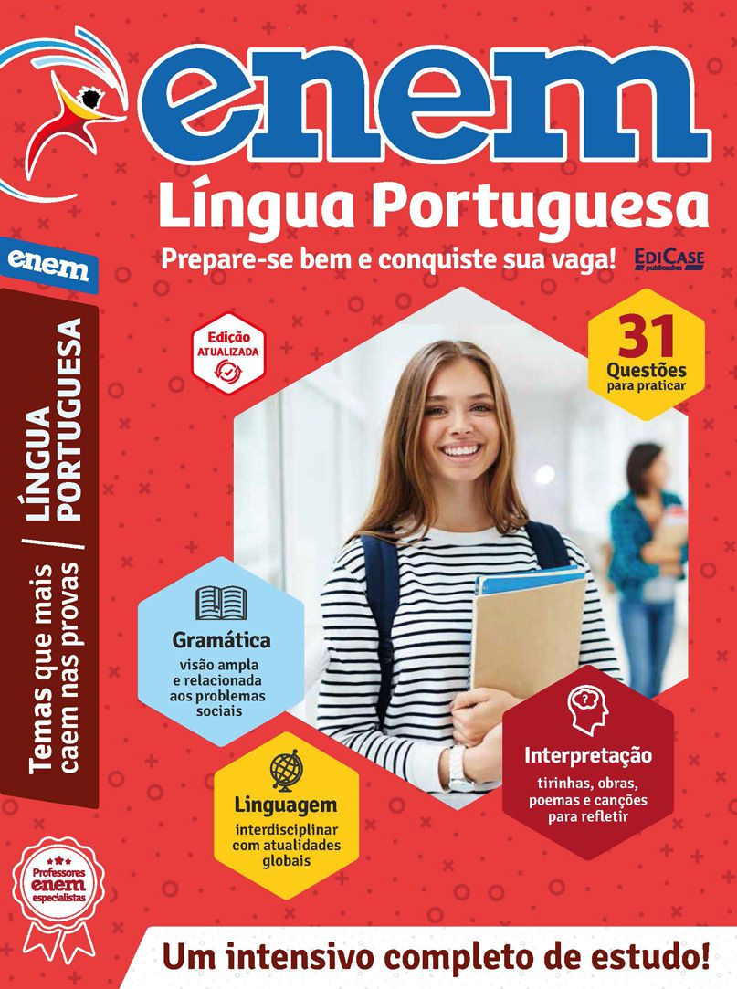 Livro ENEM 2019 Ed. 01 - Língua Portuguesa  - EdiCase Publicações