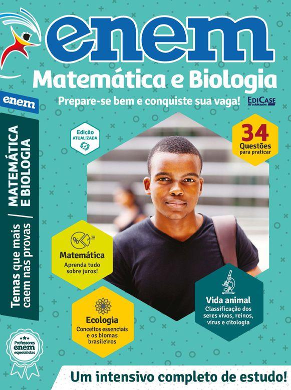 Livro ENEM 2019 Ed. 03 - Matemática e Biologia  - EdiCase Publicações