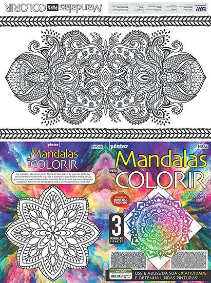 Mandalas Para Colorir Ed. 01 - Pôster   - EdiCase Publicações