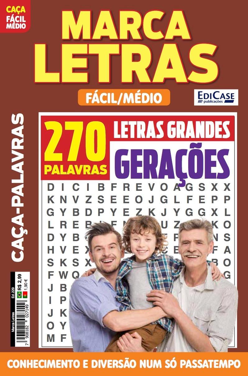 Marca Letras Ed. 229 - Fácil/Médio - Gerações