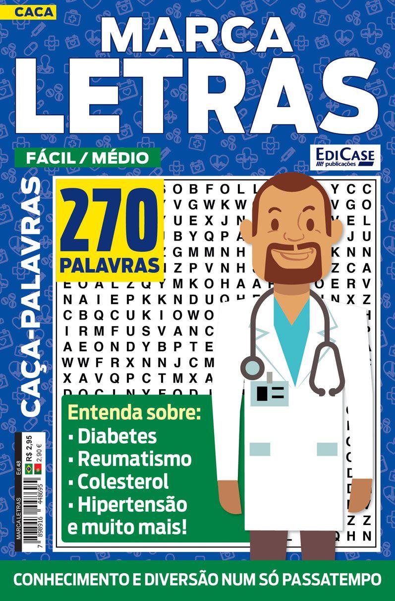 Marca Letras Ed. 48 - Fácil/Médio - Tema: Saúde  - EdiCase Publicações