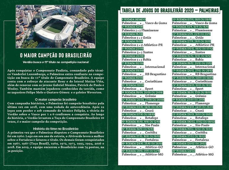 Minipôster Palmeiras Ed. 01   - EdiCase Publicações