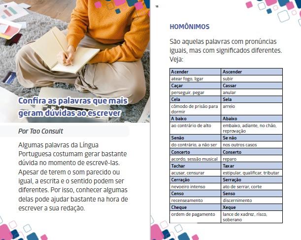 Orientações Enem Ed. 05 - HOMÔNIMOS E PARÔNIMOS - PRODUTO DIGITAL (PDF)