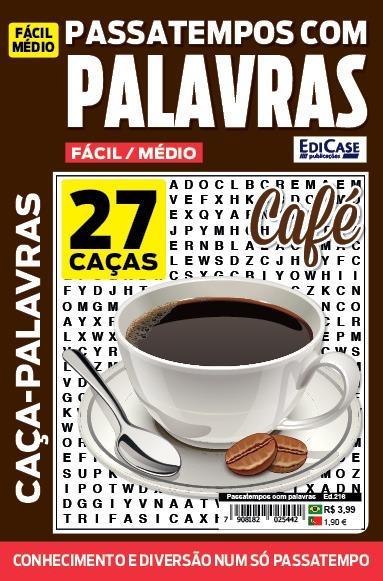Passatempos com Palavras Ed. 216 - Fácil/Médio - Café