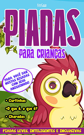 Piadas Para Crianças Ed. 61 - Curtinhas, O que é, o que é? E Charadas - PRODUTO DIGITAL (PDF)