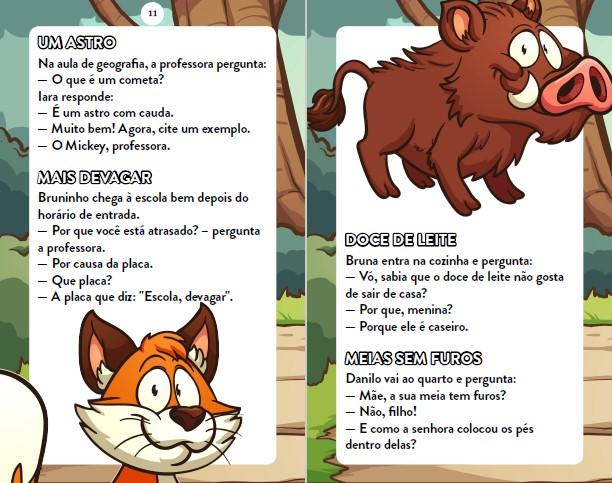 Piadas Para Crianças Ed. 81 - Curtinhas, O que é, o que é? E Charadas - PRODUTO DIGITAL (PDF)