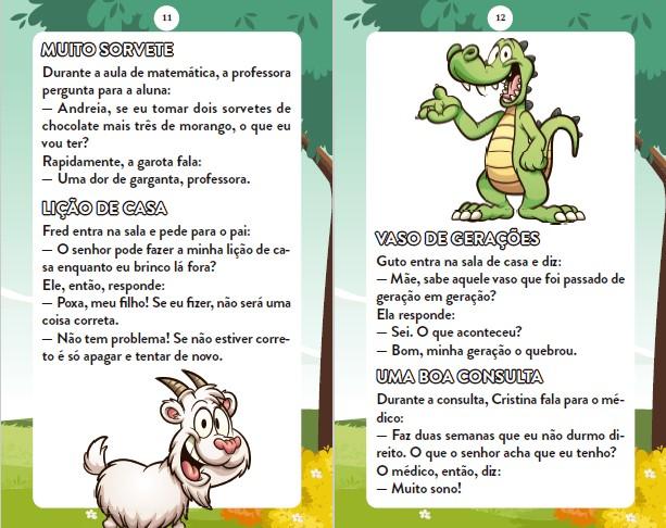 Piadas Para Crianças Ed. 83 - Curtinhas, O que é, o que é? E Charadas - PRODUTO DIGITAL (PDF)