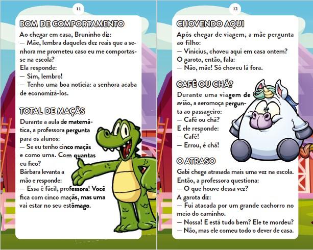 Piadas Para Crianças Ed. 87 - Curtinhas, O que é, o que é? E Charadas - PRODUTO DIGITAL (PDF)