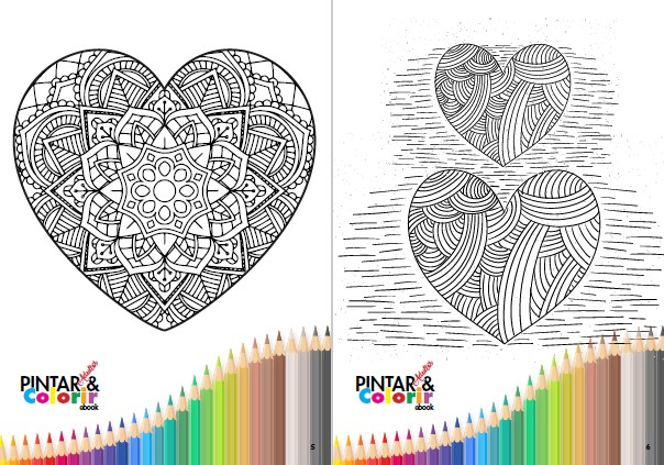 Pintar e Colorir Adultos Ed. 19 - Coração - PRODUTO DIGITAL (PDF)