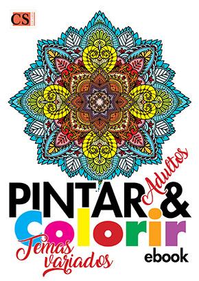 Pintar e Colorir Adultos Ed. 24 - Temas Variados  - PRODUTO DIGITAL (PDF)