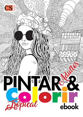 Pintar e Colorir Adultos Ed. 26 - Tropical- PRODUTO DIGITAL (PDF)