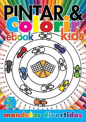 Pintar e Colorir Kids Ed. 02 - Mandalas Divertidas - PRODUTO DIGITAL (PDF)  - EdiCase Publicações