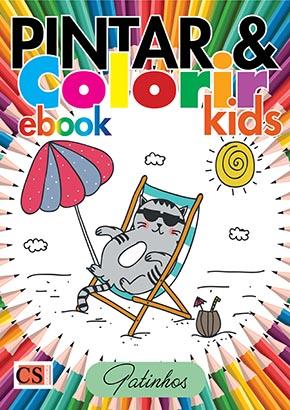 Pintar e Colorir Kids Ed. 19 - Gatinhos - PRODUTO DIGITAL (PDF)