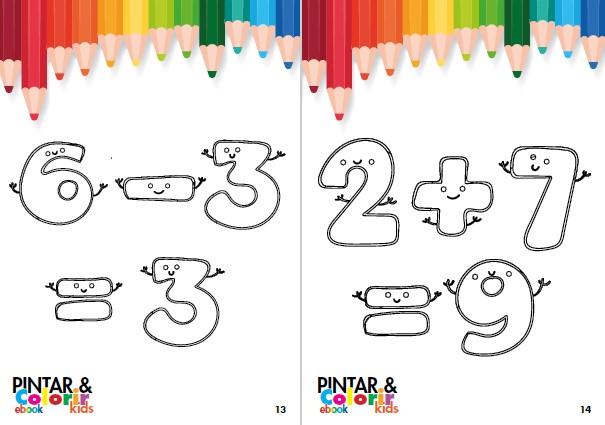 Pintar e Colorir Kids Ed. 21 - Matemática - PRODUTO DIGITAL (PDF)