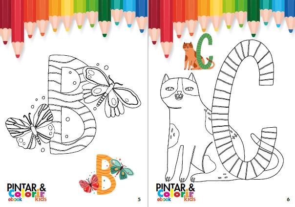 Pintar e Colorir Kids Ed. 23 - Alfabeto - PRODUTO DIGITAL (PDF)
