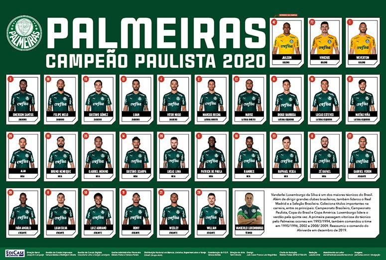 Pôster Paulistão 2020 Ed. 01 - Palmeiras  - EdiCase Publicações