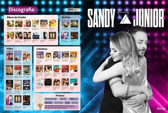 Pôster Sandy & Junior Ed. 01   - EdiCase Publicações