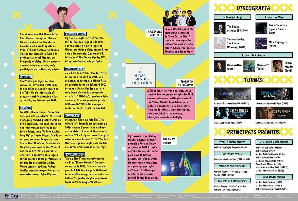 Pôster Shawn Mendes Ed. 01   - EdiCase Publicações