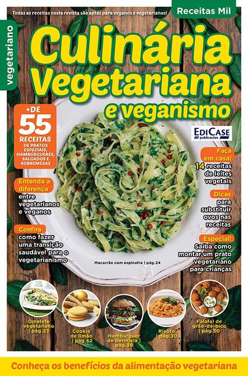 Receitas Mil Ed. 08 - Culinária Vegetariana e Veganismo  - EdiCase Publicações