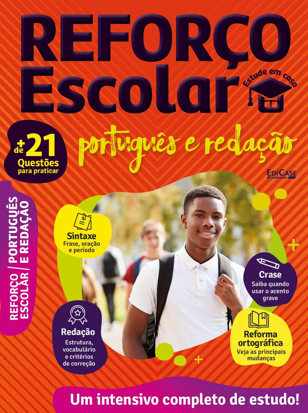 Reforço Escolar - Estude em casa Ed. 01 - Português e Redação  - EdiCase Publicações