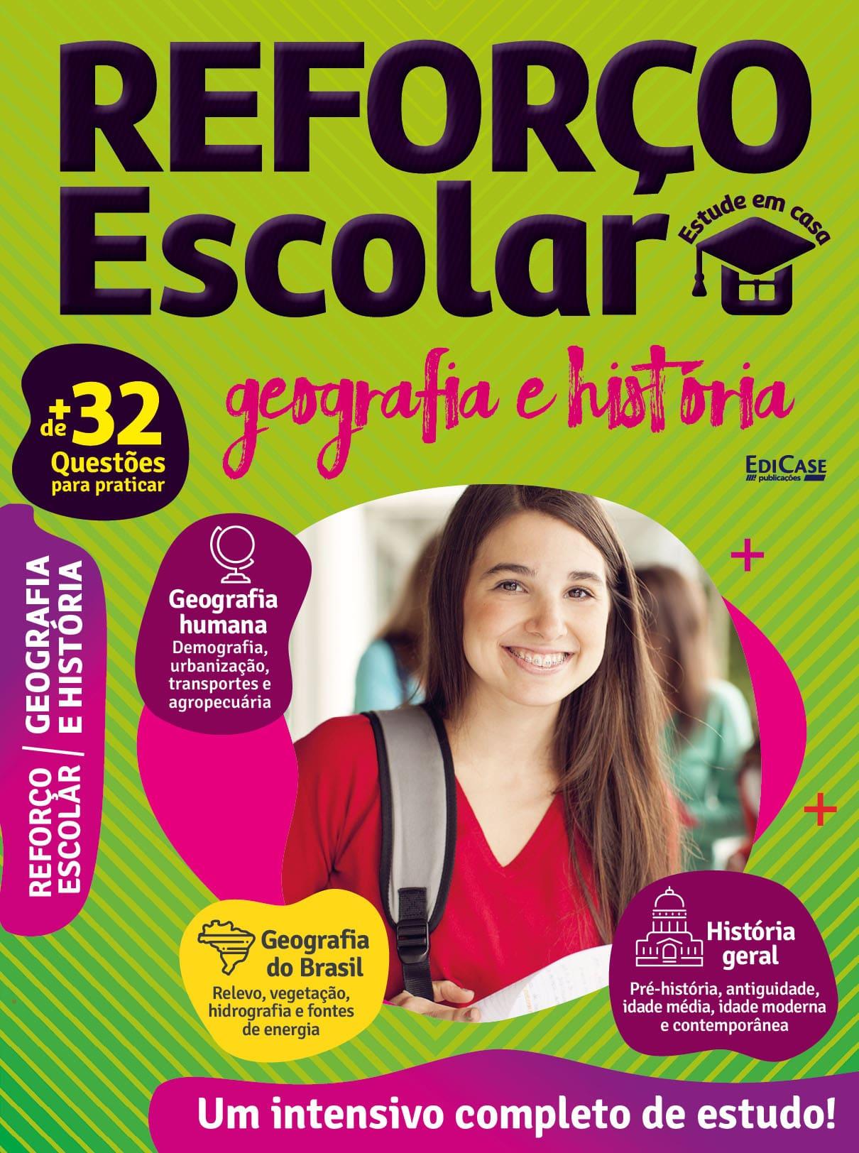 Reforço Escolar - Estude em casa Ed. 03 - Geografia e História  - EdiCase Publicações