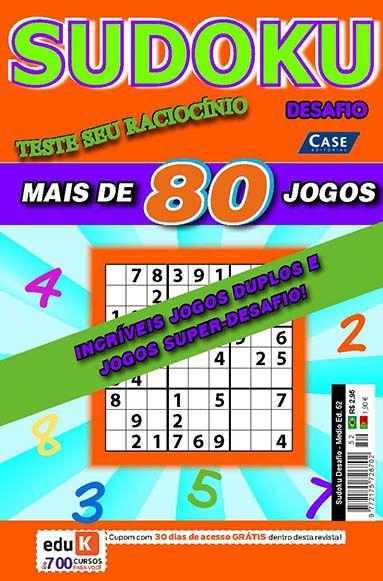 Sudoku Desafio Ed. 52 - Médio   - EdiCase Publicações