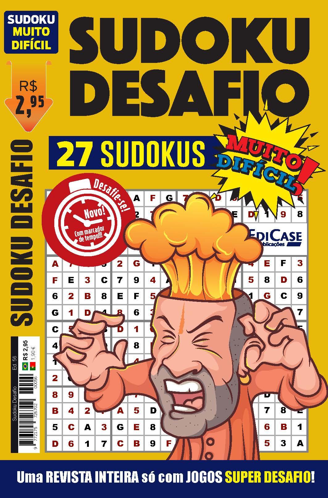 Sudoku Desafio Ed. 56 - Muito Difícil - Só Super Desafio - Com Letras e Números  - EdiCase Publicações