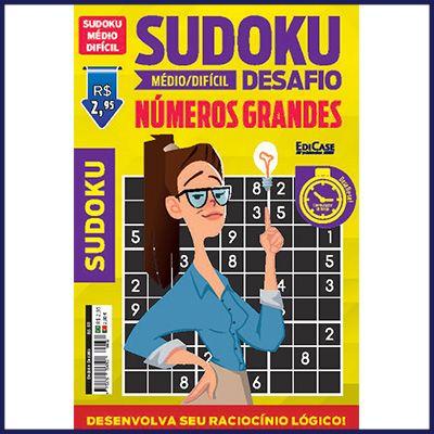 Sudoku Desafio Ed. 58 - Médio/Difícil - Com Números Grandes - Só Jogos 9x9  - EdiCase Publicações