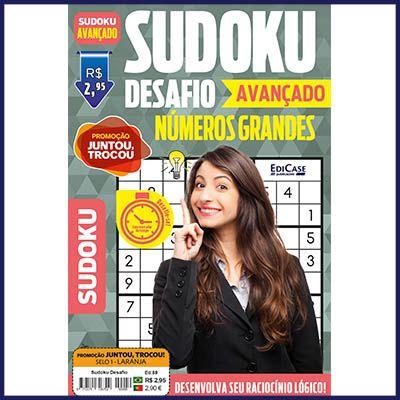 Sudoku Desafio Ed. 59 - Avançado - Com Números Grandes - Só Jogos 9x9  - EdiCase Publicações