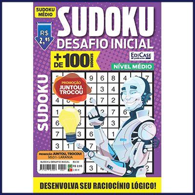 Sudoku Desafio Inicial Ed. 03 - Médio - Só Jogos 9x9   - EdiCase Publicações