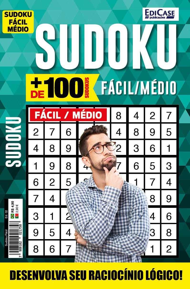 Sudoku Fácil Ed. 02 - Fácil/Médio - 9x9 - 4 Jogos por página