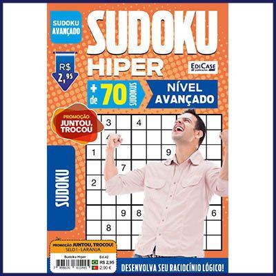 Sudoku Hiper Ed. 42 - Avançado - Só Jogos 9x9  - EdiCase Publicações