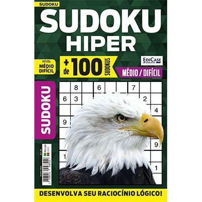 Sudoku Hiper Ed. 43 - Médio/Difícil - Só Jogos 9x9  - EdiCase Publicações
