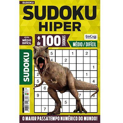 Sudoku Hiper Ed. 44 - Médio/Difícil - Só Jogos 9x9  - EdiCase Publicações
