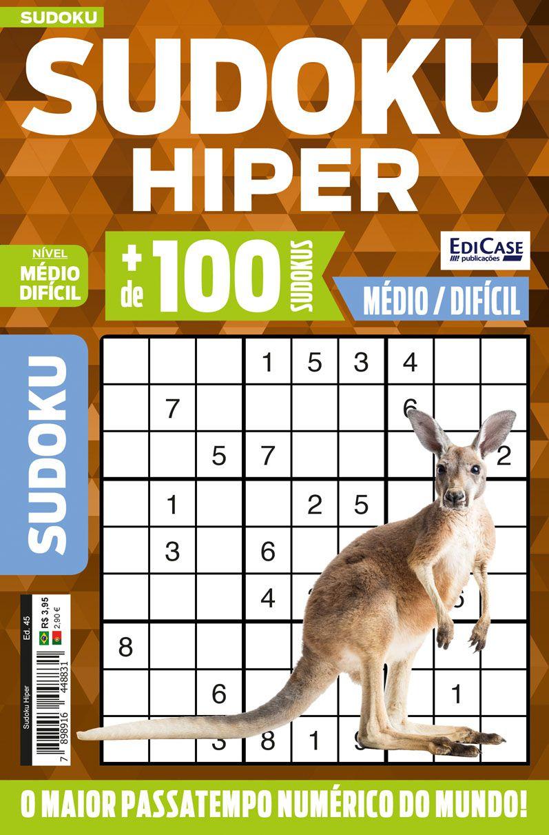 Sudoku Hiper Ed. 45 - Médio/Difícil - Só Jogos 9x9  - EdiCase Publicações