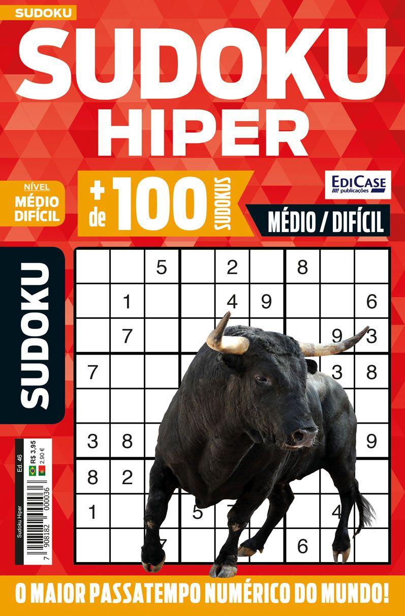 Sudoku Hiper Ed. 46 - Médio/Difícil - Só Jogos 9x9  - EdiCase Publicações