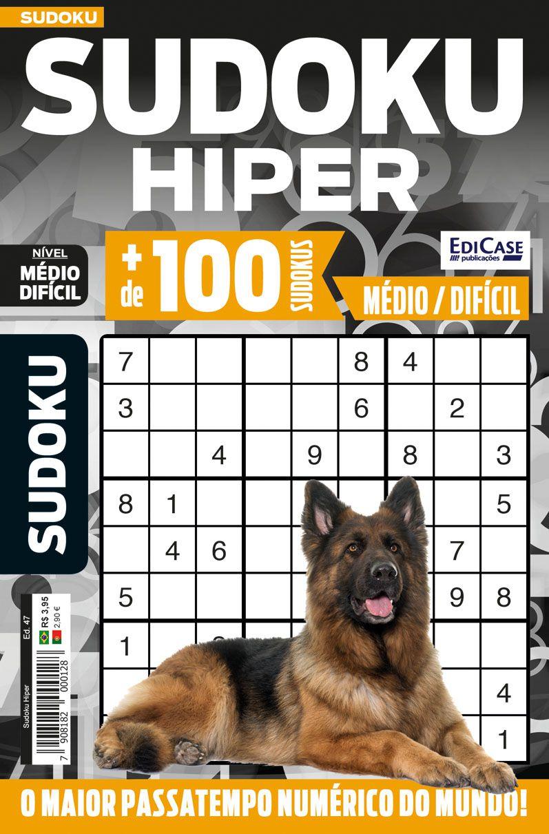 Sudoku Hiper Ed. 47 - Médio/Difícil - Só Jogos 9x9  - EdiCase Publicações