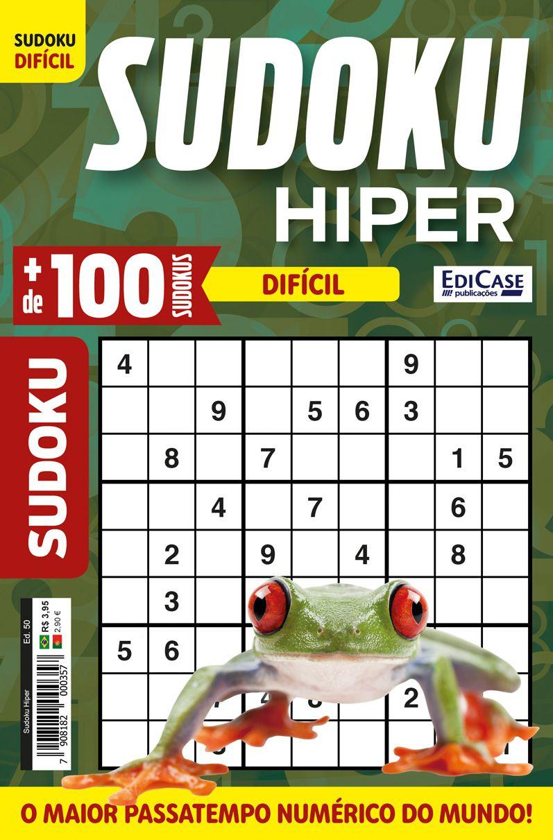 Sudoku Hiper Ed. 50 - Difícil - Só Jogos 9x9 - Rã  - EdiCase Publicações