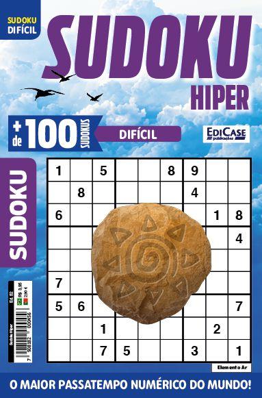 Sudoku Hiper Ed. 52 - Difícil - Só Jogos 9x9 - Elemento Ar  - EdiCase Publicações