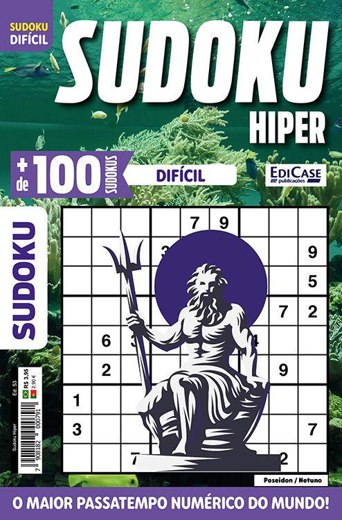 Sudoku Hiper Ed. 53 - Difícil - Só Jogos 9x9 - Poseidon / Netuno
