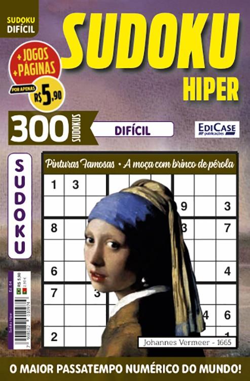Sudoku Hiper Ed. 64 - Difícil - Só Jogos 9x9 - Pinturas Famosas - A moça com brinco de pérola