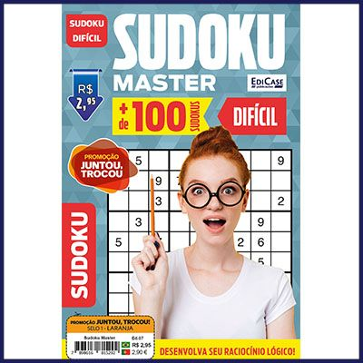 Sudoku Master Ed. 07 - Difícil - Só Jogos 9x9   - EdiCase Publicações