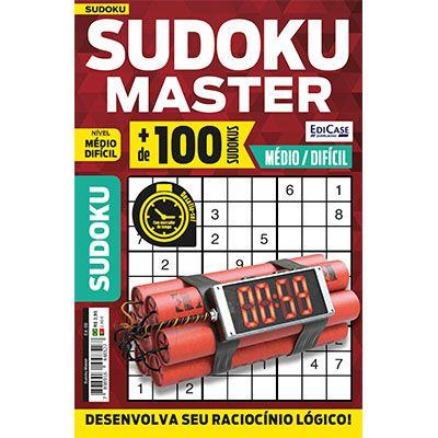 Sudoku Master Ed. 09 - Médio/Difícil - Só jogos 9x9  - EdiCase Publicações