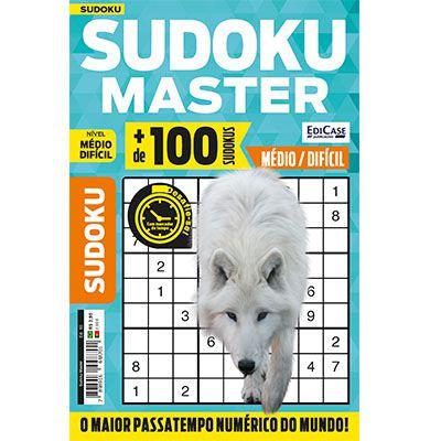 Sudoku Master Ed. 10 - Médio/Difícil - Só jogos 9x9  - EdiCase Publicações