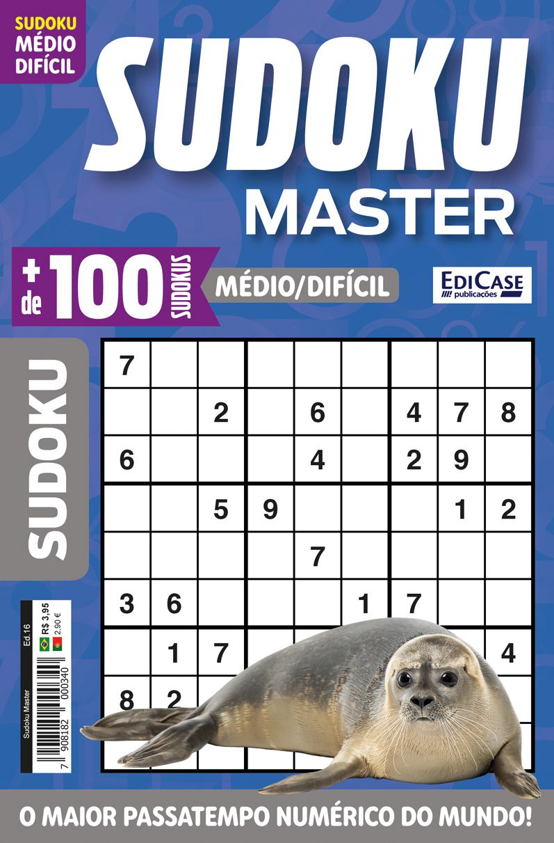 Sudoku Master Ed. 16 - Médio/Difícil - Só jogos 9x9 - Foca  - EdiCase Publicações