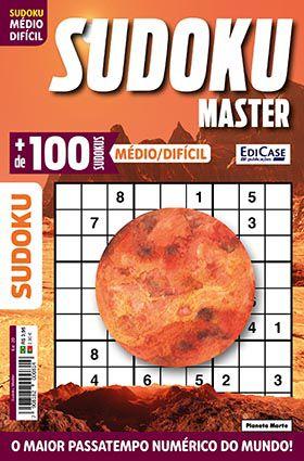 Sudoku Master Ed. 20 - Médio/Difícil - Só jogos 9x9 - Planeta Marte  - EdiCase Publicações